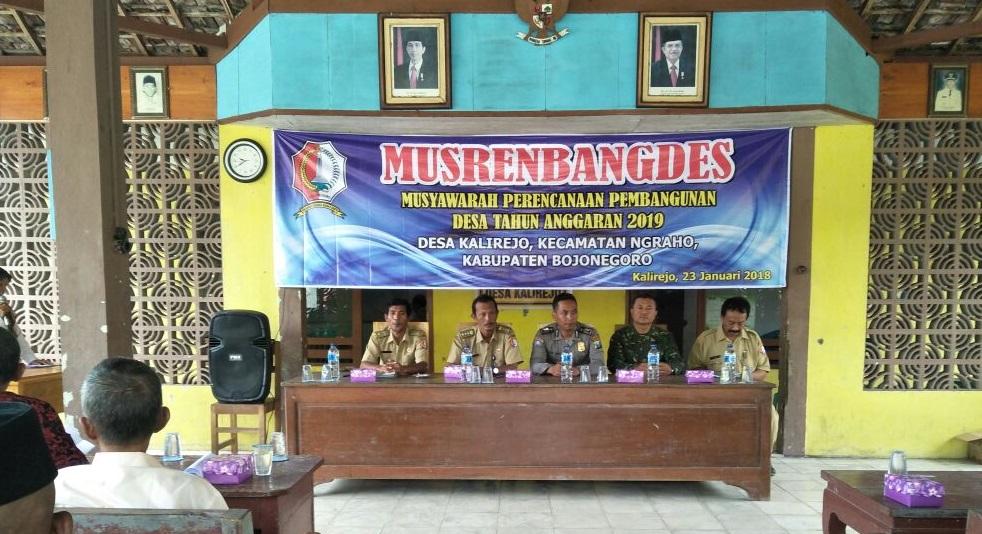Musrenbangdes Tahun 2018<BR>di Kecamatan Ngraho